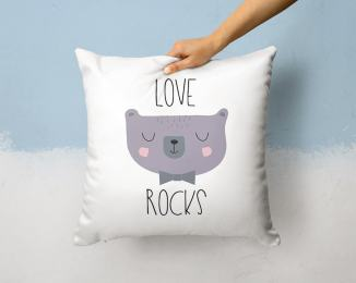 Cute kids pillow by Otto and Pixels