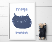 Printable cat poster by Otto and Pixels-min